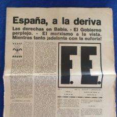 Militaria: F.E. Nº 13.- 5 - JULIO - 1934.- SEMANARIO DE LA FALANGE.- ORIGINAL.. Lote 220865030