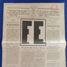 Militaria: F.E. Nº 12.- 26 - ABRIL - 1934.- SEMANARIO DE LA FALANGE.- ORIGINAL.. Lote 220866476