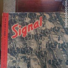 Militaria: REVISTA SIGNAL EDICION ESPAÑOLA 1 NUMERO DE ENERO 1943. Lote 221138837