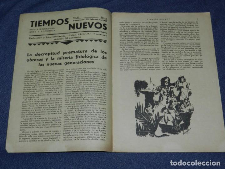 Militaria: REPUBLICA ANARQUISMO - REVISTA TIEMPOS NUEVOS AÑO II Nº 7 BARCELONA 28 FEBRERO 1935 REVISTA SEMANAL - Foto 2 - 221799173