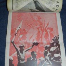 Militaria: GUERRA CIVIL ANARQUISMO REVISTA TIEMPOS NUEVOS AÑO III BARCELONA 1ºDIC. 1936 Nº 9 CARTEL DESPLEGABLE. Lote 221800183