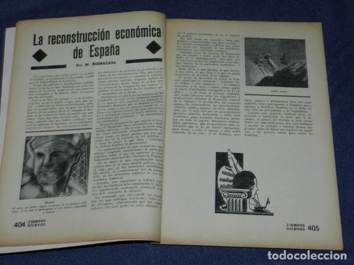 Militaria: GUERRA CIVIL ANARQUISMO REVISTA TIEMPOS NUEVOS AÑO III BARCELONA 1ºDIC. 1936 Nº 9 CARTEL DESPLEGABLE - Foto 4 - 221800183