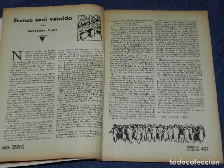 Militaria: GUERRA CIVIL ANARQUISMO REVISTA TIEMPOS NUEVOS AÑO III BARCELONA 1ºDIC. 1936 Nº 9 CARTEL DESPLEGABLE - Foto 5 - 221800183