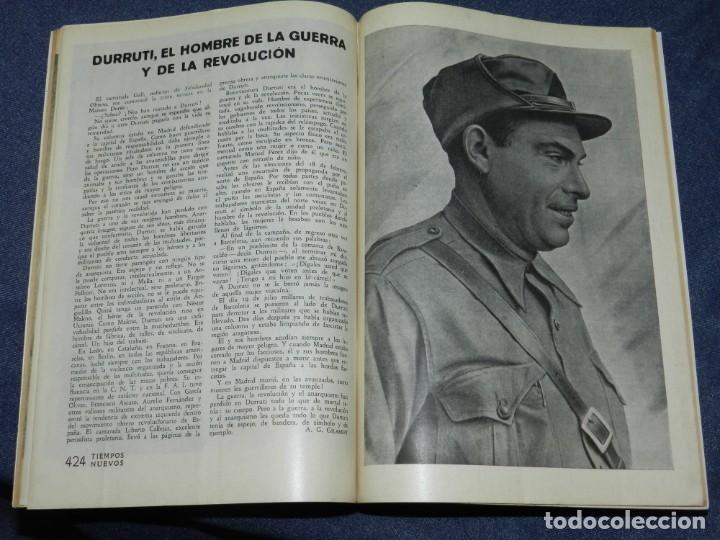Militaria: GUERRA CIVIL ANARQUISMO REVISTA TIEMPOS NUEVOS AÑO III BARCELONA 1ºDIC. 1936 Nº 9 CARTEL DESPLEGABLE - Foto 8 - 221800183