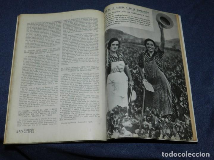 Militaria: GUERRA CIVIL ANARQUISMO REVISTA TIEMPOS NUEVOS AÑO III BARCELONA 1ºDIC. 1936 Nº 9 CARTEL DESPLEGABLE - Foto 9 - 221800183