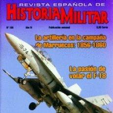 Militaria: REVISTA ESPAÑOLA DE HISTORIA MILITAR, Nº105 LA ARTILLERIA EN LA CAMPAÑA DE MARRUECOS:18561860 HM-221. Lote 288571393