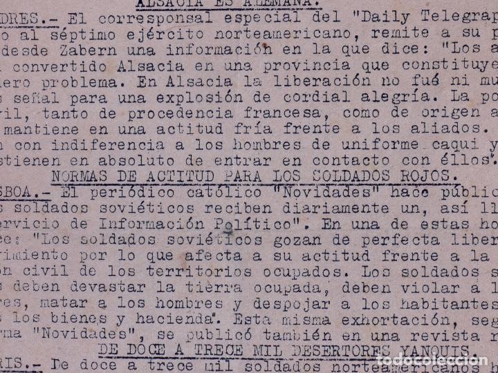 Militaria: EMBAJADA ALEMANA EN MADRID. BOLETÍN DE INFORMACIÓN 1945 - Foto 4 - 222418346