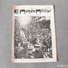 Militaria: REVISTA DECENAL ILUSTRADA DEL MUNDO MILITAR. AÑO 3. 31 DE ENERO DE 1910. Nº 73. Lote 222791333