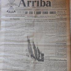 Militaria: PERIODICO ARRIBA 20 DE OCTUBRE DE 1940.HOY LLEGA A MADRID HEINRICH HIMMLER.. Lote 224155133