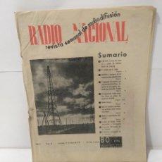 Militaria: RADIO NACIONAL REVISTA SEMANAL DE RADIODIFUSIÓN Nº 10 DEL 1939 ENERO. Lote 224375216