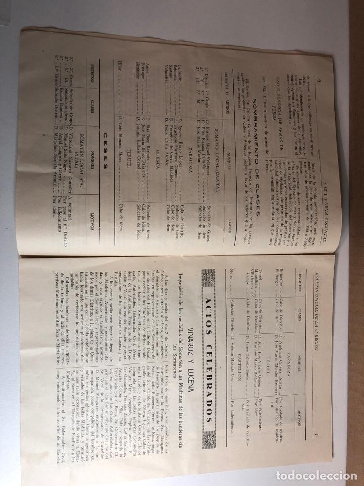 Militaria: Boletín oficial somatenes armados quinta región 5 región zaragoza febrero 1929 - Foto 3 - 225020193