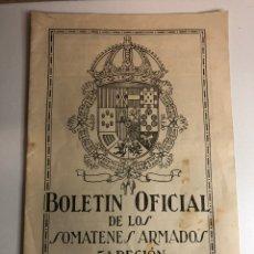 Militaria: BOLETÍN OFICIAL SOMATENES ARMADOS QUINTA REGIÓN 5 REGIÓN ZARAGOZA FEBRERO 1929. Lote 225020193
