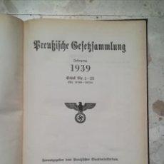 Militaria: LIBRO LAS LEYES DE PRUSIA, EDITADO EN BERLIN, AÑO 1939. Lote 226045625