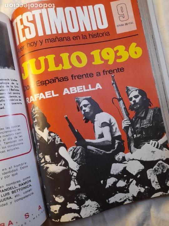 Militaria: TESTIMONIO, AYER, HOY Y MAÑANA EN LA HISTORIA. Bruguera 1ª edición 1975 - Foto 6 - 226131985