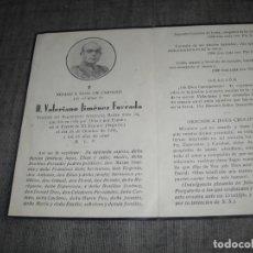 Militaria: ESQUELA GUERRA CIVIL OFICIAL REGIMIENTO BAILEN MUERTO EN EL ESPINAR SEGOVIA. Lote 231979940