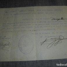 Militaria: DOCUMENTO CONSEJO MUNICIPAL PUEBLA POBLA FARNALS VALENCIA GUERRA CIVIL CERTIFICADO. Lote 231982355