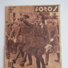 Militaria: SEMANARIO GRÁFICO FOTOS Nº 72 (16 JULIO 1938) GUERRA CIVIL. BRUNETE. SANTANDER. GIJON. ALFAMBRA. Lote 233120725