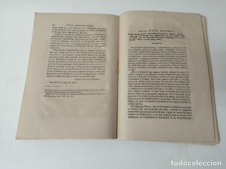 Militaria: REVISTA GENERAL DE MARINA 1878 ILUSTRADA MUY RARA - Foto 2 - 234402490