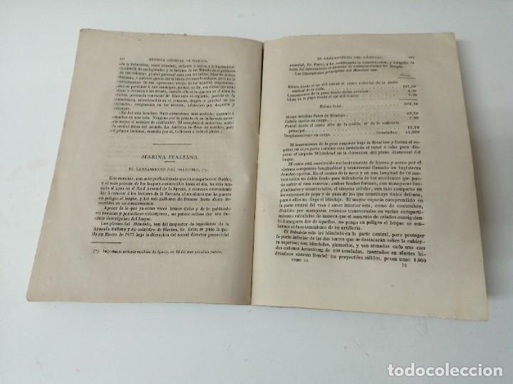 Militaria: REVISTA GENERAL DE MARINA 1878 ILUSTRADA MUY RARA - Foto 3 - 234402490