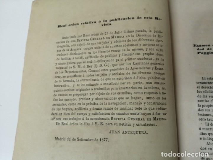 Militaria: REVISTA GENERAL DE MARINA GUERRA DE ORIENTE 1878 ILUSTRADA CON LAMINAS - Foto 2 - 234402855
