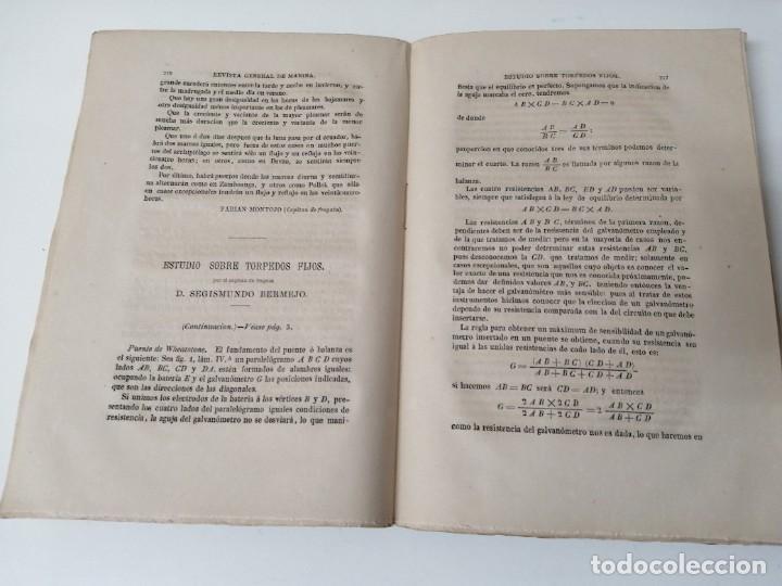 Militaria: REVISTA GENERAL DE MARINA GUERRA DE ORIENTE 1878 ILUSTRADA CON LAMINAS - Foto 4 - 234402855