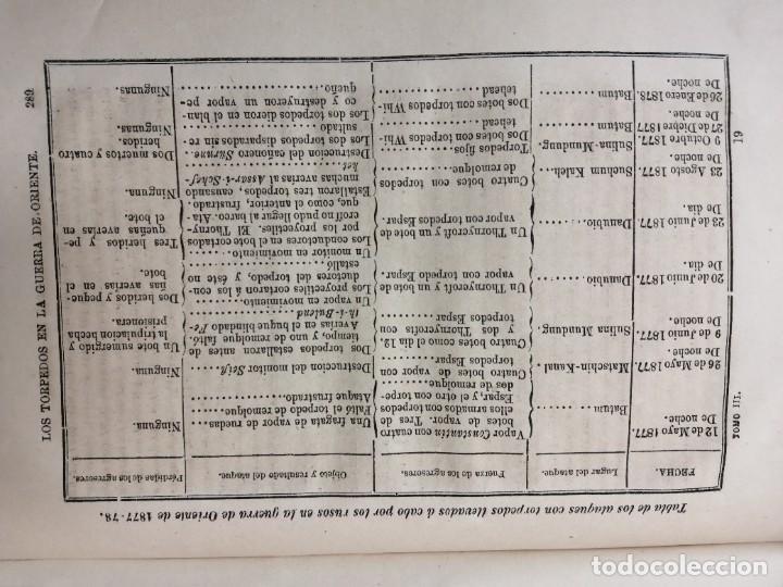 Militaria: REVISTA GENERAL DE MARINA GUERRA DE ORIENTE 1878 ILUSTRADA CON LAMINAS - Foto 5 - 234402855