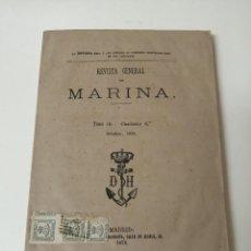 Militaria: REVISTA GENERAL DE MARINA 1878 MUY RARA. Lote 234403480
