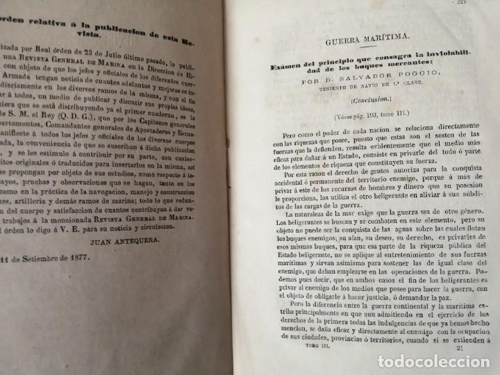Militaria: REVISTA GENERAL DE MARINA 1878 MUY RARA - Foto 2 - 234403480