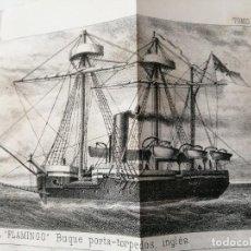 Militaria: REVISTA GENERAL DE MARINA 1878 ILUSTRADA MUY RARA. Lote 234404205