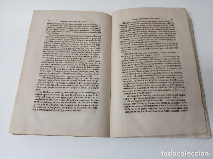 Militaria: REVISTA GENERAL DE MARINA 1878 ILUSTRADA MUY RARA - Foto 4 - 234404205