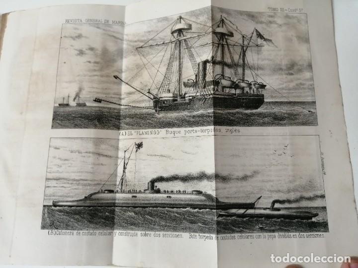 Militaria: REVISTA GENERAL DE MARINA 1878 ILUSTRADA MUY RARA - Foto 6 - 234404205