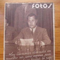 Militaria: SEMANARIO GRÁFICO FOTOS Nº 90 (19 NOVIEMBRE 1938) GUERRA CIVIL. BATALLA DE MORA DE EBRO (TARRAGONA). Lote 234513485