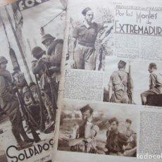Militaria: RECORTE REVISTA FOTOS. GUERRA CIVIL POR LOS MONTES DE EXTREMADURA. Lote 234519700