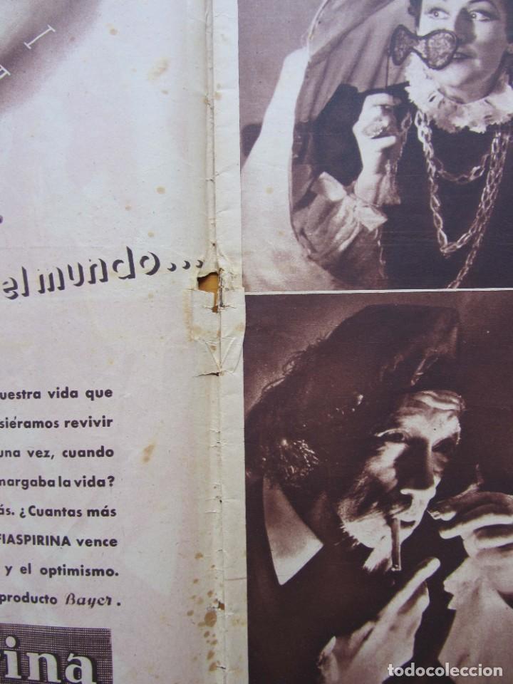 Militaria: Semanario gráfico FOTOS nº 96 (31 Diciembre 1938) Guerra civil. Teatro falange, Barrio Terol - Foto 3 - 234927555