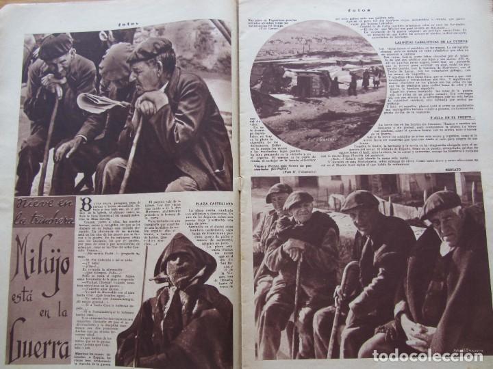 Militaria: Semanario gráfico FOTOS nº 96 (31 Diciembre 1938) Guerra civil. Teatro falange, Barrio Terol - Foto 5 - 234927555
