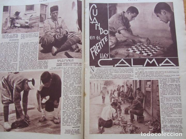 Militaria: Semanario gráfico FOTOS nº 96 (31 Diciembre 1938) Guerra civil. Teatro falange, Barrio Terol - Foto 6 - 234927555