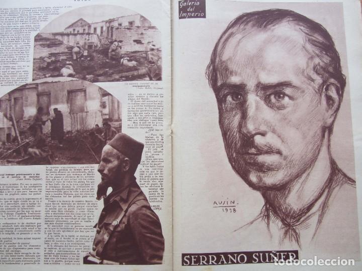 Militaria: Semanario gráfico FOTOS nº 96 (31 Diciembre 1938) Guerra civil. Teatro falange, Barrio Terol - Foto 7 - 234927555