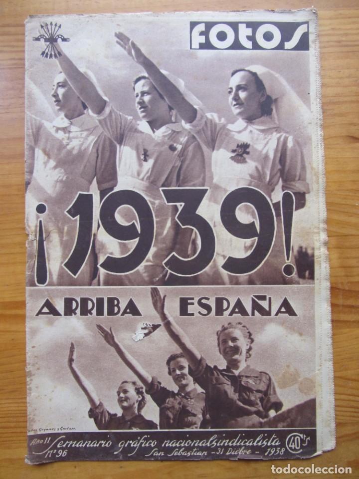 SEMANARIO GRÁFICO FOTOS Nº 96 (31 DICIEMBRE 1938) GUERRA CIVIL. TEATRO FALANGE, BARRIO TEROL (Militar - Revistas y Periódicos Militares)