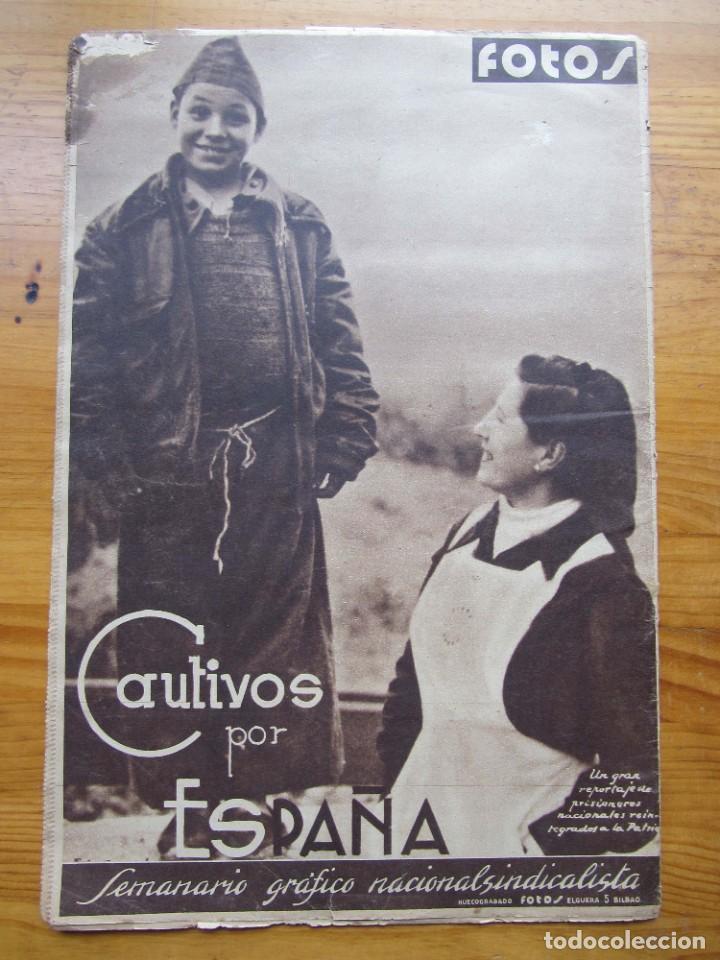 Militaria: Semanario gráfico FOTOS nº 105 (4 Marzo 1939) Guerra civil. Barcelona. Menorca. Mahón. Tarragona - Foto 3 - 234935600
