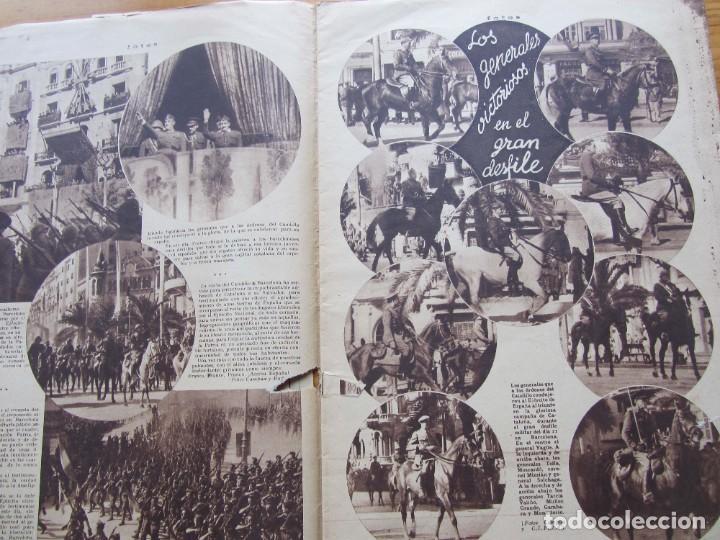 Militaria: Semanario gráfico FOTOS nº 105 (4 Marzo 1939) Guerra civil. Barcelona. Menorca. Mahón. Tarragona - Foto 6 - 234935600
