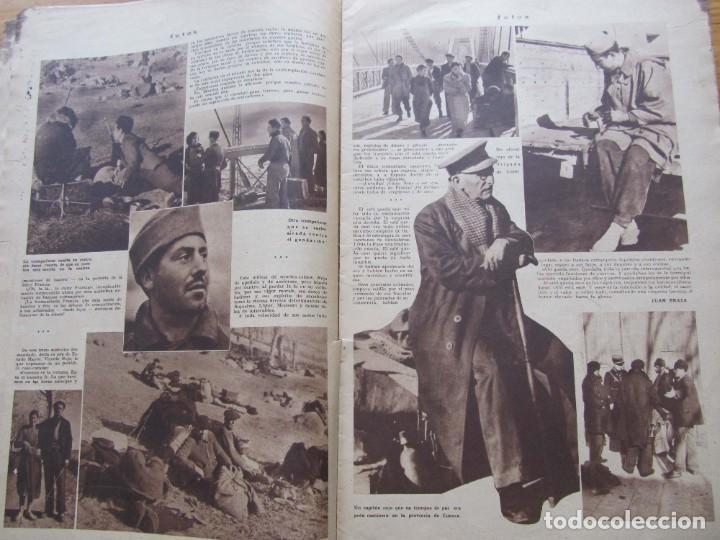 Militaria: Semanario gráfico FOTOS nº 105 (4 Marzo 1939) Guerra civil. Barcelona. Menorca. Mahón. Tarragona - Foto 7 - 234935600