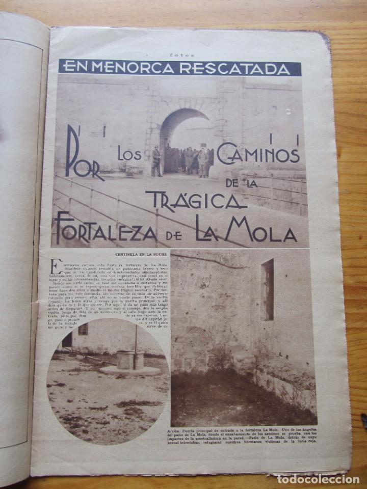 Militaria: Semanario gráfico FOTOS nº 105 (4 Marzo 1939) Guerra civil. Barcelona. Menorca. Mahón. Tarragona - Foto 8 - 234935600