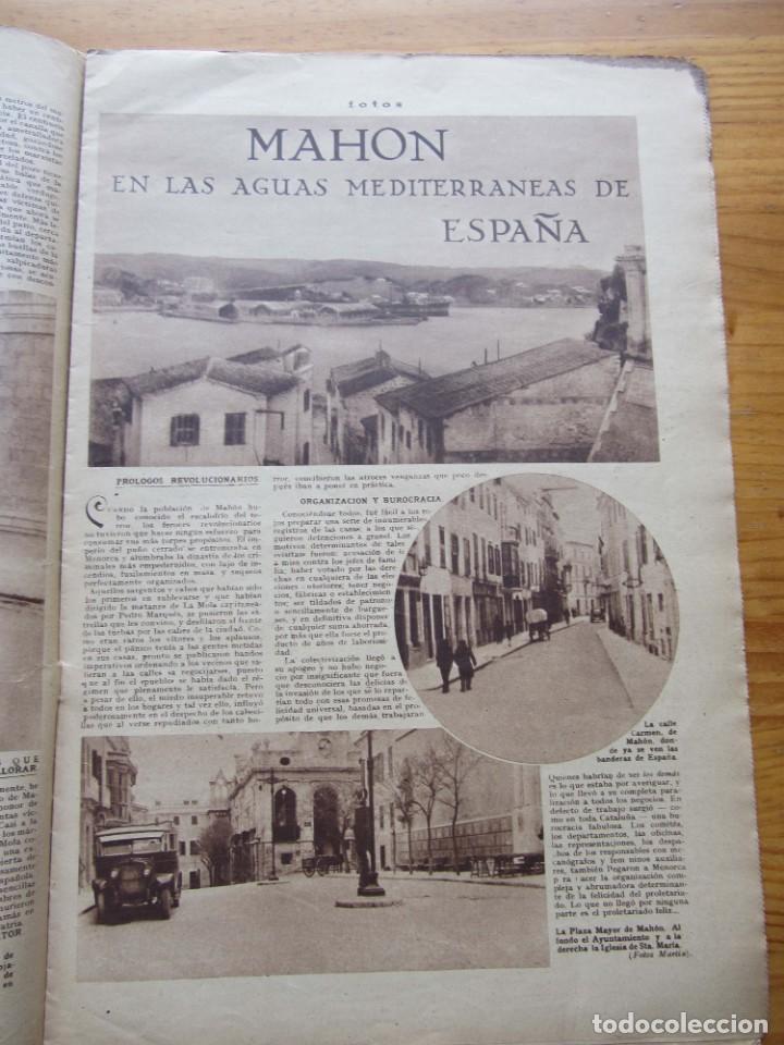 Militaria: Semanario gráfico FOTOS nº 105 (4 Marzo 1939) Guerra civil. Barcelona. Menorca. Mahón. Tarragona - Foto 9 - 234935600