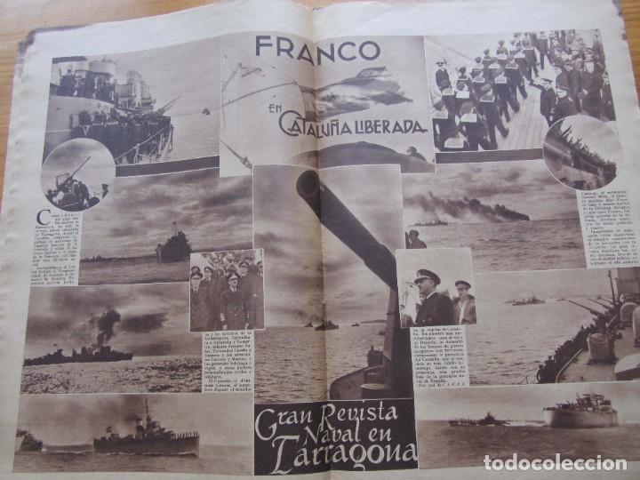 Militaria: Semanario gráfico FOTOS nº 105 (4 Marzo 1939) Guerra civil. Barcelona. Menorca. Mahón. Tarragona - Foto 10 - 234935600