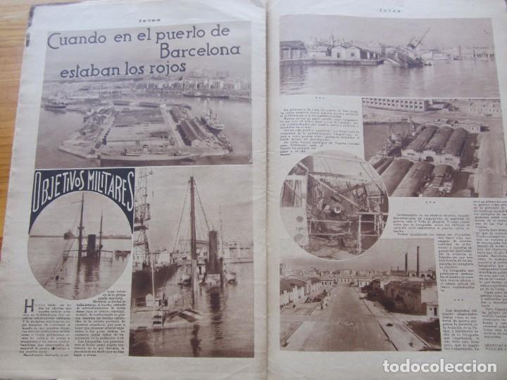 Militaria: Semanario gráfico FOTOS nº 105 (4 Marzo 1939) Guerra civil. Barcelona. Menorca. Mahón. Tarragona - Foto 11 - 234935600