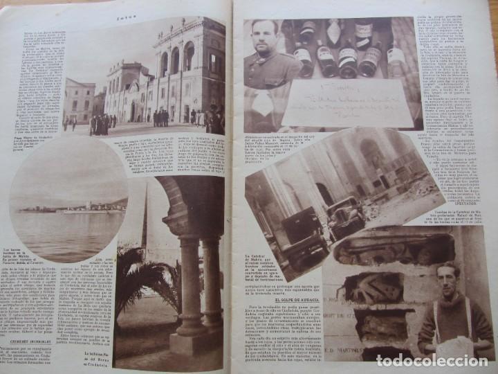 Militaria: Semanario gráfico FOTOS nº 106 (11 marzo 1939) Guerra civil. Port-Bou. Liberación Menorca. Ciudadela - Foto 4 - 234937300