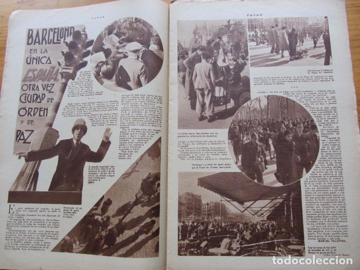 Militaria: Semanario gráfico FOTOS nº 106 (11 marzo 1939) Guerra civil. Port-Bou. Liberación Menorca. Ciudadela - Foto 5 - 234937300