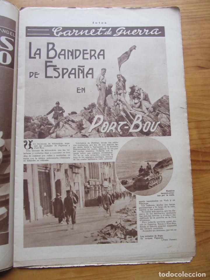 Militaria: Semanario gráfico FOTOS nº 106 (11 marzo 1939) Guerra civil. Port-Bou. Liberación Menorca. Ciudadela - Foto 6 - 234937300