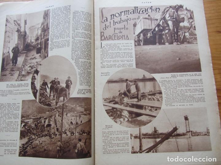 Militaria: Semanario gráfico FOTOS nº 106 (11 marzo 1939) Guerra civil. Port-Bou. Liberación Menorca. Ciudadela - Foto 7 - 234937300