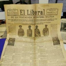 Militaria: PERIODICO EL LIBERAL, 25 AGOSTO DE 1932, FRACASO DE LA SANJURJADA, 8 PAGINAS. Lote 235140345